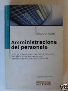 BONATI AMMINISTRAZIONE PERSONALE IL SOLE 24 ORE 2000