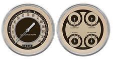"classic instruments nostalgia vt series 2 gauge set nt52slc speedo quad 5"" set"