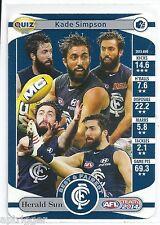 2014 Teamcoach Herald Sun Quiz (03) Kade SIMPSON (Carlton & AFL legend...)