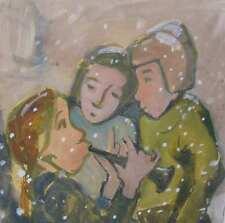 Krzywicki Walter *1911 Klassische Moderne Mädchen Flöte SCHNEE Expressionismus