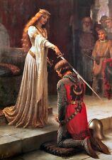 The Accolade Dubbing Edmund Blair Leighton Knights Templar Canvas Print Poster