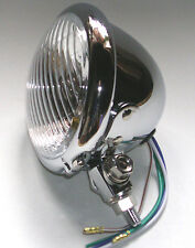 phare moto avant  feu pieces chopper lampe light 10cm headlight bates 4.5 inch
