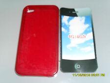 IPHONE 4G 4GS COVER CUSTODIA PROTETTIVA SILICONE MORBIDA ROSSO ART.2