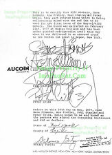 KISS Signed - Marvel Blood Contract Signed 1977 to Display with Original Comic!