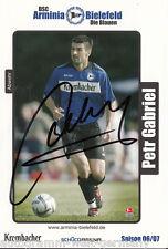 Peter Gabriel Arminia Bielefeld 2006-07 TOP AK  +A23432