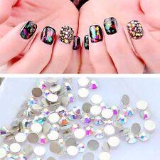 Nail Art Crystal AB Rhinestones Plain Rear Glitters Stones Nail Tips Decoration