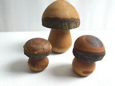 3 Holzpilze Pilzgruppe  Dekoration Pilz aus Holz