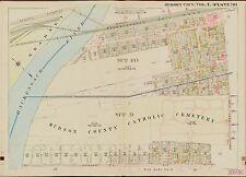 1908 JERSEY CITY, NEW JERSEY HUDSON COUNTY NEWARK AV TO DUNCAN AV  ATLAS MAP