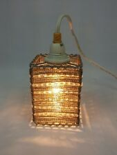 Mid Century Hanging Swag Lamps Pendant Vintage 1970's Retro Beaded Hippie Lot 5