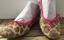 DONNA CAROLINA Ballerina Pumps Peep toe Sandale animalprint Pink UVP 169 Euro