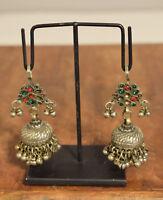 Earrings Silver Kuchi Glass Belly Dancing Middle Eastern Kuchi Earrings