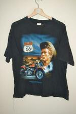 RETRO OKLAHOMA ROUTE 66 AMERICAN-CYCLE LABEL MOTORCYCLE PRINT T-SHIRT UK MEDIUM
