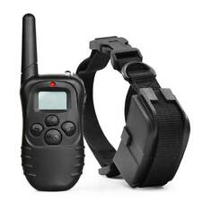 Electric LCD Tone Shock E-Collar Remote Control Dog Training Anti-Bark Device