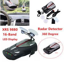 16-Band XRS 9880 Car Speed Laser Anti Radar Detectors Kit 360 Degree Led display