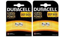 Duracell  Lot de 4 Piles 357 / 303 / V76PX / SR44SW ( 2 blisters de 2 piles )