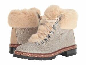 NIB Kate Spade New York Rosalie Ankle Boot Roasted Peanut Faux Fur Sz 5.5 NEW
