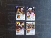 2014 VANUATU NELSON MANDELA SET 4 MINT STAMPS MNH