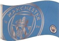 MANCHESTER CITY FC CLUB REACT FLAG 5ft X 3ft LICENSED FOOTBALL PRODUCT MCFC