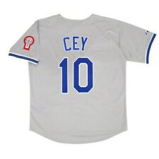 Ron Cey 1981 Los Angeles Dodgers Grey Road Jersey w/ Patch (M-2XL)