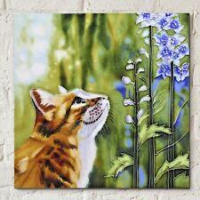 Marmaduke by J Yates 8x8 Decorative Ceramic Picture Art Tile Cat Kitten 05314