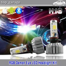 H10 2 in 1 CREE COB 60W LED Headlight Kit W/ RGB Demon Eye Bluetooth APP Control