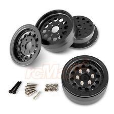 Gmade NR01 Black Beadlocks Off Road Crawler Wheels 1.9 Tires EP RC Cars #GM70224