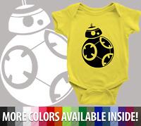 Infant Baby Rib Bodysuit Clothes shower Gift BB-8 Droid Star Wars Parody Robot