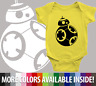 Infant Baby Rib Bodysuit Clothes shower Gift BB-8 Droid Star Wars Parody Robot