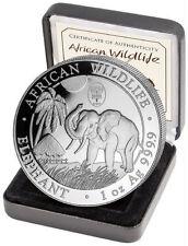 100 Schilling Somalia WorldMoneyFair Privy Wildlife Elefant  2017 1oz Silber