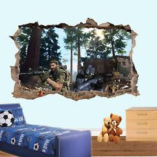 Ejército francotirador perros soldados COD Pegatinas de pared efecto 3D de arte cartel Calcomanía Mural RD4