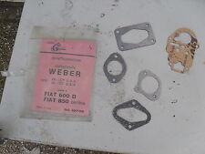 FIAT 600 D - 850 BERLINA /SERIE GUARNIZIONI CARBURATORE WEBER /carburetor gasket