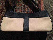 Le Tanneur sac à main cuir granité blanc & noir