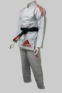 NEW adidas Contest 2.0 BJJ Gi Jiu Jitsu Gi 450gr Pearl Weave Ultra Light, White