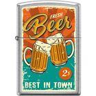 Zippo Lighter - Fresh Beer Street Chrome - 854718