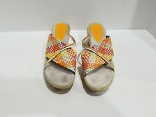 Bass Womens Multi Color Slide Sandals Size 8 M