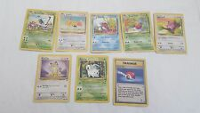 ORIGINAL BASE 2 SET POKEMON SET OF 8 CARDS INC 4 UNCOMMON & 4 COMMON
