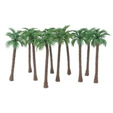 10pcs Diorama Wargame Layout Model Train Coconut Palm Trees Scale HO OO 14CM