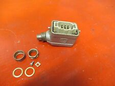 HARTING CONNECTOR PLUG W/ HOUSING HAN E6M HANE6M 16A A AMPS 380V VOLTS USED