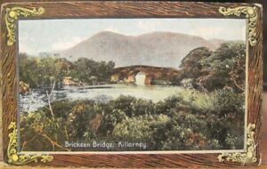 Irish Postcard BRICKEEN BRIDGE Bricín Killarney  Ireland Shureys Fine Art Used