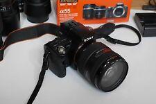 Sony Alpha A55 16.2MP Digitalkamera 18-55mm und 55-200 Objektiv oder 16-50 /2.8
