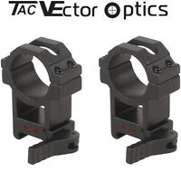 Vector Optics Tactical 30mm Quick Release Rifle Scope QD Mount Picatinny Rings