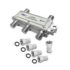 HD Sat Splitter 4 fach Verteiler 5-2400 MHz F-Stecker Digital Kabel F Buchse 4K