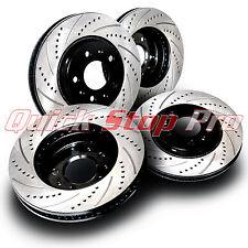 HON026S Prelude 97-01 High Performance Brake Rotors SET F/R Drill + Cruve Slots