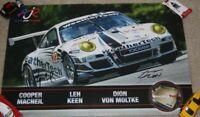 2012 Alex Job Racing #22 Porsche 997 GTC signed Petit Le Mans IMSA ALMS Poster