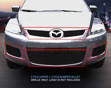 07-09 Mazda CX-7 Black Billet Grille COMBO Grill Insert Fedar