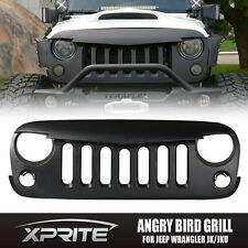 Front Matte Black Angry Bird Grille Grid Grill for Jeep Wrangler Sport JK 07-17