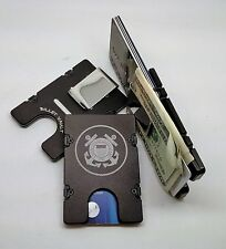 U.S. Coast Guard, Aluminum Wallet/Credit Card Holder, RFID Protection, Black