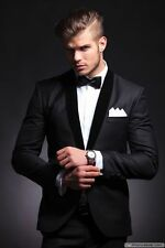 Men's Slim Fit Wedding Suit Tuxedo Custom Made Best Man Bridegroom Wedding Suits