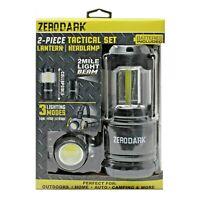 Zero Dark 2 Set LED Lantern and Head Light Emergency Camping Collapsible Lamp