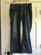 Angels Jeans Dark Wash Flap Pocket Womens Size 18